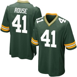 Nydair Rouse Green Bay Packers Men's Game Team Color Nike Jersey - Green