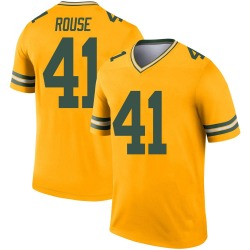 Nydair Rouse Green Bay Packers Men's Legend Inverted Nike Jersey - Gold