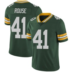 Nydair Rouse Green Bay Packers Men's Limited Team Color Vapor Untouchable Nike Jersey - Green