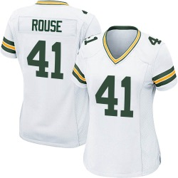 Nydair Rouse Green Bay Packers Women's Game Nike Jersey - White