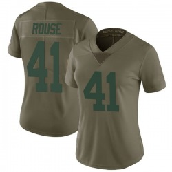Nydair Rouse Green Bay Packers Women's Limited Salute to Service Nike Jersey - Green