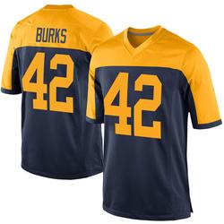 Oren Burks Green Bay Packers Men's Game Alternate Nike Jersey - Navy