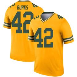 Oren Burks Green Bay Packers Men's Legend Inverted Nike Jersey - Gold