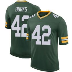 Oren Burks Green Bay Packers Men's Limited 100th Vapor Nike Jersey - Green