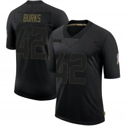 Oren Burks Green Bay Packers Youth Limited 2020 Salute To Service Nike Jersey - Black