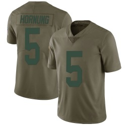Paul Hornung Green Bay Packers Men's Limited Salute to Service Nike Jersey - Green