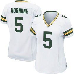 Paul Hornung Green Bay Packers Women's Game Nike Jersey - White
