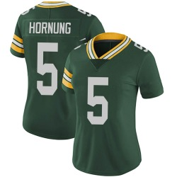 Paul Hornung Green Bay Packers Women's Limited Team Color Vapor Untouchable Nike Jersey - Green