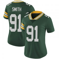 Preston Smith Green Bay Packers Women's Limited Team Color Vapor Untouchable Nike Jersey - Green