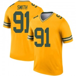Preston Smith Green Bay Packers Youth Legend Inverted Nike Jersey - Gold