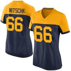 Ray Nitschke Green Bay Packers Women's Game Alternate Nike Jersey - Navy