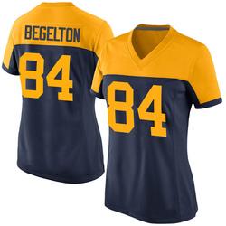 Reggie Begelton Green Bay Packers Women's Game Alternate Nike Jersey - Navy