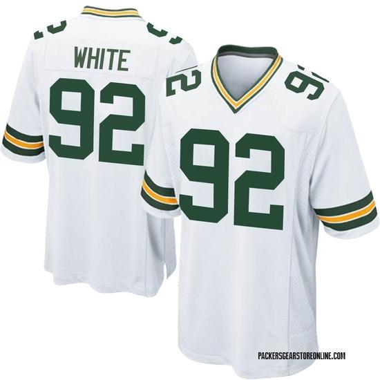Reggie White Green Bay Packers Men's Game Nike Jersey - White
