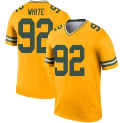 Reggie White Green Bay Packers Men's Legend Inverted Jersey - Gold