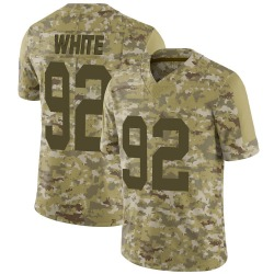 Reggie White Green Bay Packers Men's Limited 2018 Salute to Service Jersey - Camo