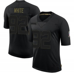Reggie White Green Bay Packers Men's Limited 2020 Salute To Service Nike Jersey - Black
