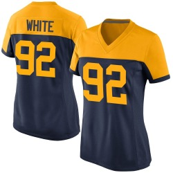 Reggie White Green Bay Packers Women's Game Alternate Nike Jersey - Navy