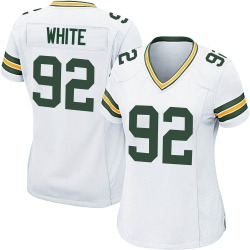 Reggie White Green Bay Packers Women's Game Nike Jersey - White