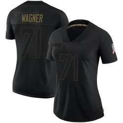 Rick Wagner Green Bay Packers Women's Limited 2020 Salute To Service Nike Jersey - Black