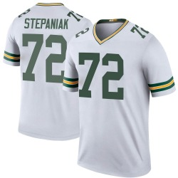 Simon Stepaniak Green Bay Packers Men's Color Rush Legend Jersey - White