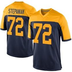 Simon Stepaniak Green Bay Packers Men's Game Alternate Nike Jersey - Navy