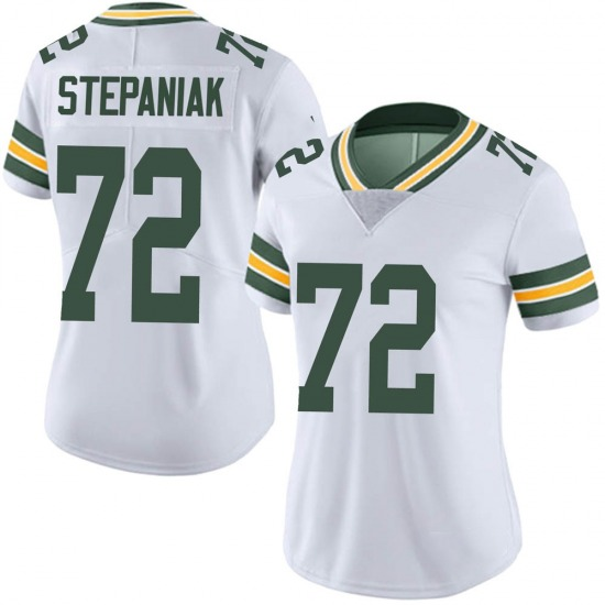 Simon Stepaniak Green Bay Packers Women's Limited Vapor Untouchable Nike Jersey - White
