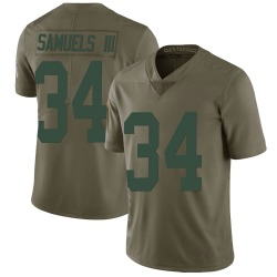 Stanford Samuels III Green Bay Packers Men's Limited Salute to Service Nike Jersey - Green