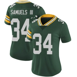 Stanford Samuels III Green Bay Packers Women's Limited Team Color Vapor Untouchable Nike Jersey - Green