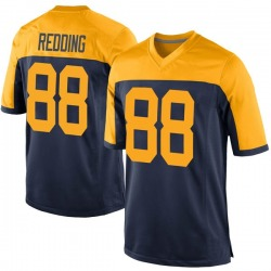 Teo Redding Green Bay Packers Men's Game Navy Alternate Nike Jersey - Red