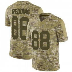 Teo Redding Green Bay Packers Men's Limited Camo 2018 Salute to Service Nike Jersey - Red