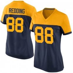 Teo Redding Green Bay Packers Women's Game Navy Alternate Nike Jersey - Red