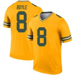 Tim Boyle Green Bay Packers Men's Legend Inverted Nike Jersey - Gold