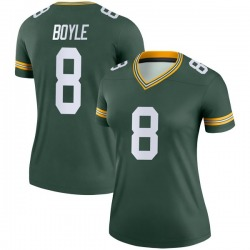 Tim Boyle Green Bay Packers Women's Legend Nike Jersey - Green
