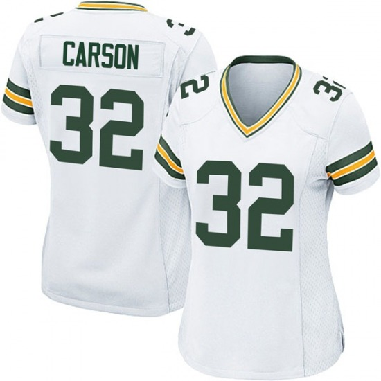 Tra Carson Green Bay Packers Women's Game Jersey - White