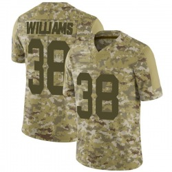 Tramon Williams Green Bay Packers Men's Limited 2018 Salute to Service Nike Jersey - Camo