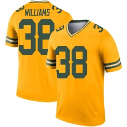Tramon Williams Green Bay Packers Youth Legend Inverted Nike Jersey - Gold