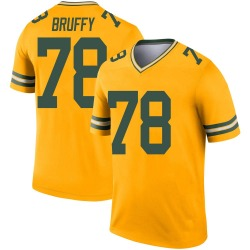 Travis Bruffy Green Bay Packers Men's Legend Inverted Nike Jersey - Gold