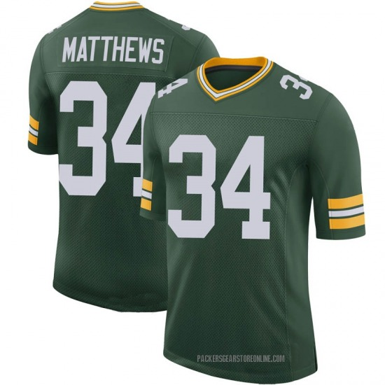 Tray Matthews Green Bay Packers Youth Limited 100th Vapor Nike Jersey - Green