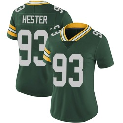 Treyvon Hester Green Bay Packers Women's Limited Team Color Vapor Untouchable Nike Jersey - Green