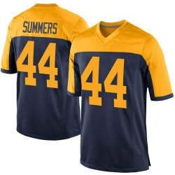 Ty Summers Green Bay Packers Men's Game Alternate Nike Jersey - Navy