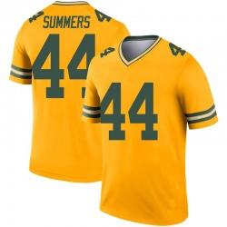 Ty Summers Green Bay Packers Youth Legend Inverted Nike Jersey - Gold