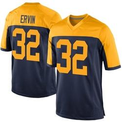 Tyler Ervin Green Bay Packers Men's Game Alternate Nike Jersey - Navy