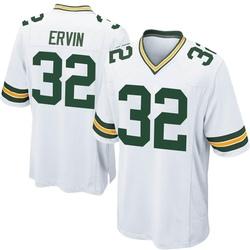 Tyler Ervin Green Bay Packers Men's Game Nike Jersey - White