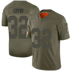 Tyler Ervin Green Bay Packers Men's Limited 2019 Salute to Service Jersey...