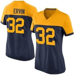 Tyler Ervin Green Bay Packers Women's Game Alternate Nike Jersey - Navy
