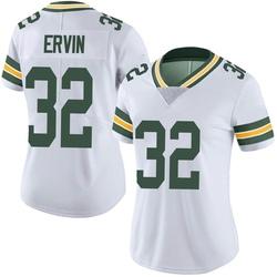 Tyler Ervin Green Bay Packers Women's Limited Vapor Untouchable Nike Jersey - White
