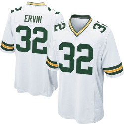 Tyler Ervin Green Bay Packers Youth Game Nike Jersey - White