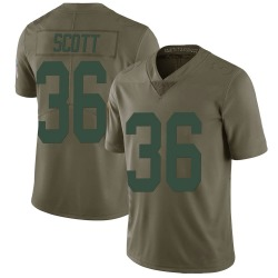 Vernon Scott Green Bay Packers Men's Limited Salute to Service Nike Jersey - Green