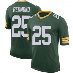 Will Redmond Green Bay Packers Men's Limited 100th Vapor Nike Jersey - Green