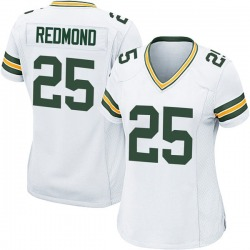 Will Redmond Green Bay Packers Women's Game Nike Jersey - White